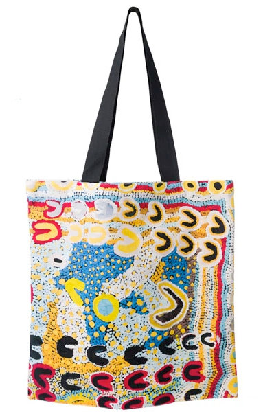ABORIGINAL ART TOTE BAG, SHOPPING BAG, BEACH BAG, CARRY BAG - AUSTRALIAN MADE
