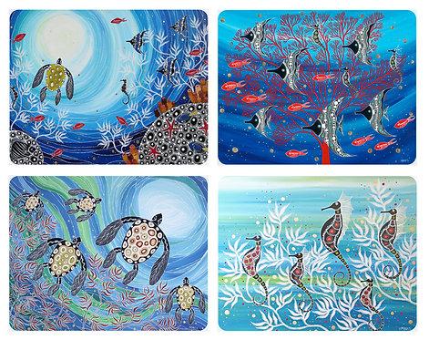 placemats - aboriginal reef
