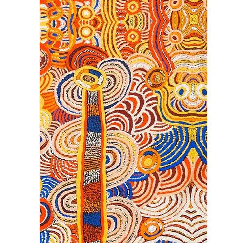 ABORIGINAL TEA TOWEL -100% COTTON - AUSTRALIAN MADE, NORA DAVIDSON, PAPULANKUTJA