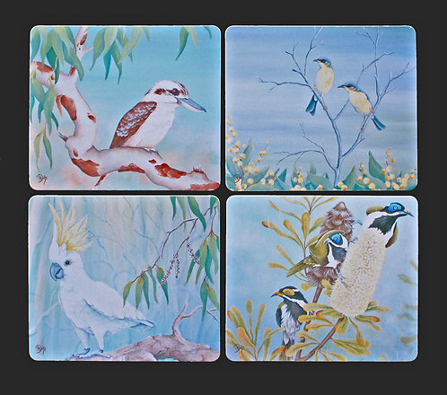 4 Coasters - Australian Birds & Flora