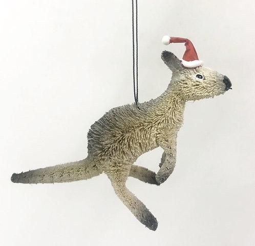 GREY KANGAROO - CHRISTMAS TREE HANGING ORNAMENT - AUSTRALIAN ANIMAL