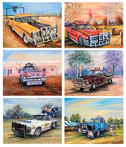 6 Placemats - Australia,Cork - Feral Utes,Holden,Cattle Ranch,Outback,Ute Muster
