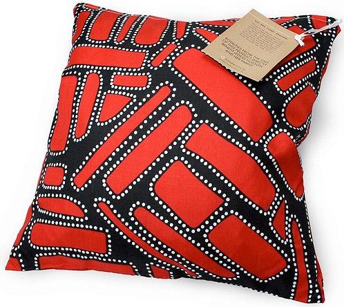 Aboriginal Cushion + Filling - Vacuum Sealed, Removable - Australia, Campground