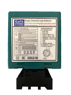 GOS LD-101 LOOP DETECTOR - SINGLE CHANNEL TRAFFIC/PARKING DETECTOR- 12/24V AC/DC