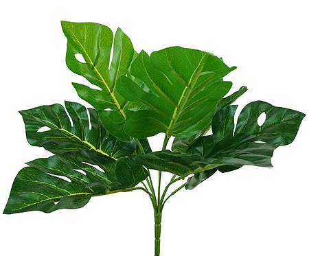 Monstera Leaf Bush Pick, 33cm - Artificial,Fake,Indoor Decor,Vase,Pot Plant