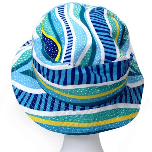 ABORIGINAL BUCKET HAT - ADULT SIZE - SOFT COTTON - AUSTRALIA, RAINBOW REEF