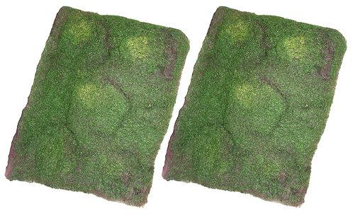 2 x Soft Artificial Moss Mats, 40x30cm - Fake,Terrarium,Fairy Garden,Wreath,Wall