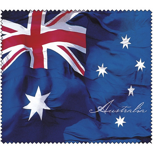 Lens Cloth - Glasses, Camera, Screen, Cleaning - Australian Flag, Australia Day