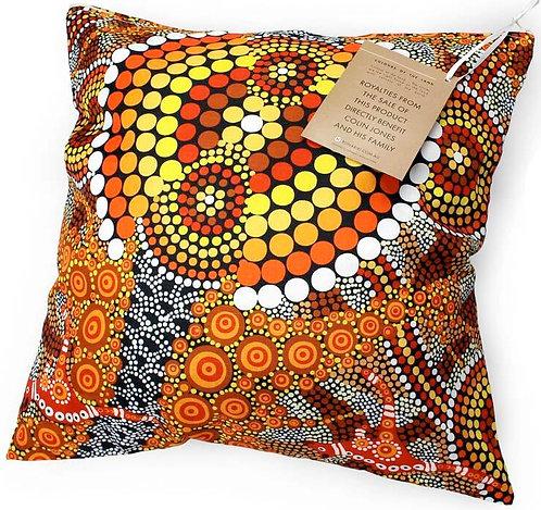 Aboriginal Cushion + Filling - Vacuum Sealed,Removable - Australia, Colours Land