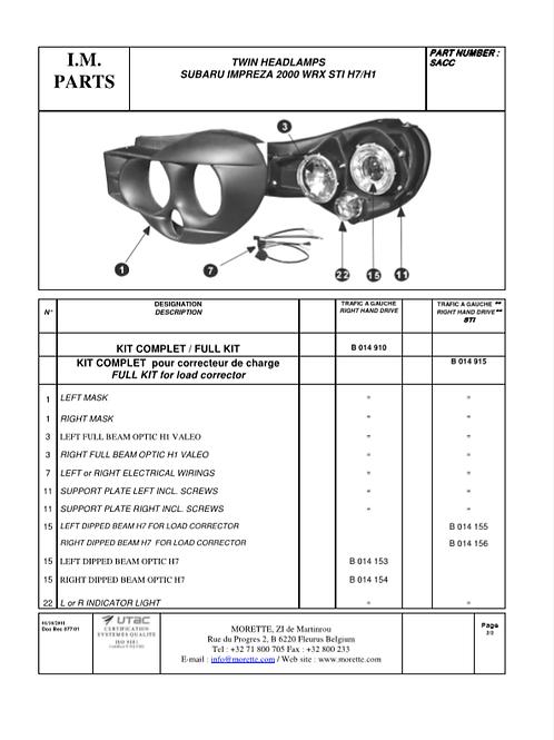 Subaru 01 Support plate (11)