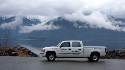Hydrogen internal combustion engine fleet truck