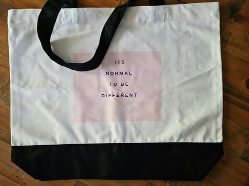 """"""" It's Normal to be Different""""  Canvas Tote Bag"""