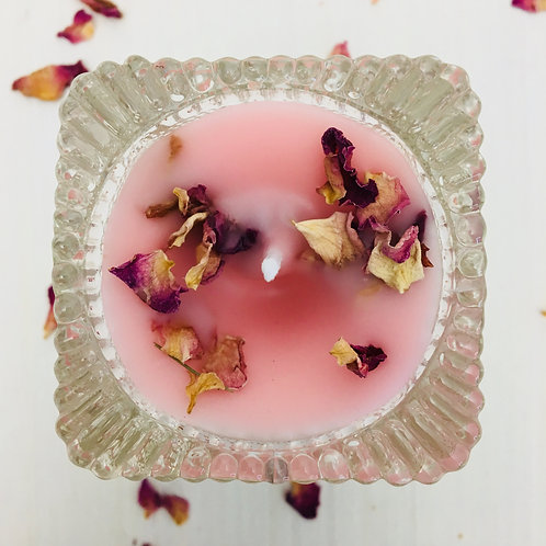 Pure & Divine Love Crystal Shooter Intention Candle