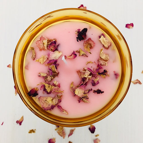 Pure & Divine Love Amber Snifter Intention Candle