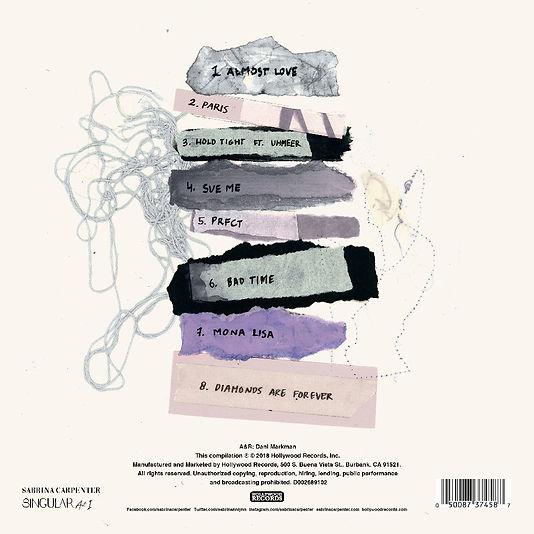 Sabrina Carpenter - Singular Act I (Back),Stijn van Hapert, Graphic Design, Album Cover, Design, Artwork