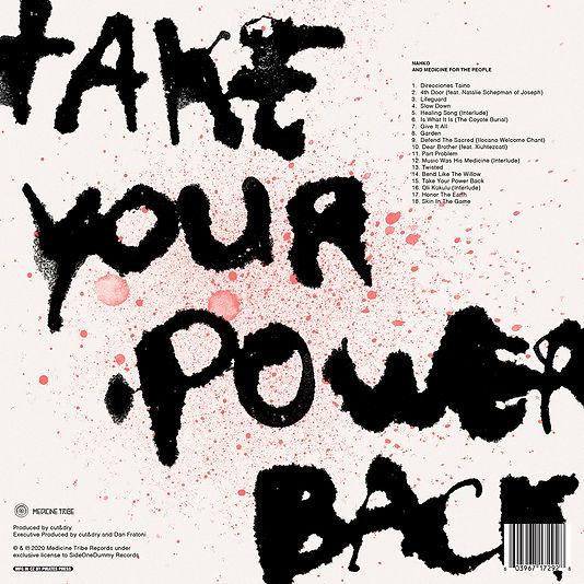 Nahko and MFTP - Take Your Power Back (Back), Stijn van Hapert, Graphic Design, Album Cover, Design, Artwork
