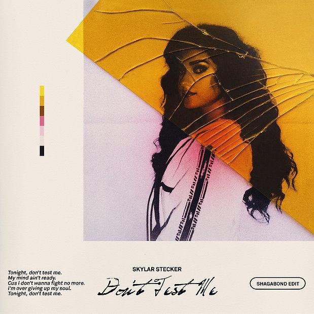 Skylar Stecker - Don't Test Me Single Cover Stijn van Hapert, Graphic Design, Album Cover, Design, Artwork