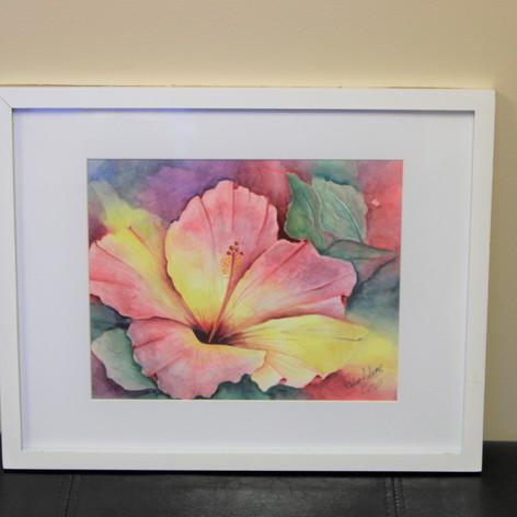 Pink Flower Painting By: Velera Adams