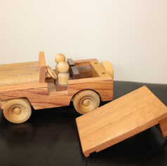 Hand Made Wooden Jeep