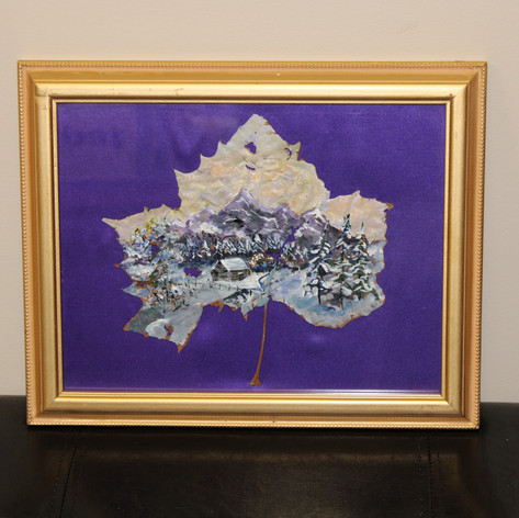 Mountain Range Painted Leaf By: Velera Adams