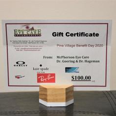 McPherson Eye Care Gift Certificate