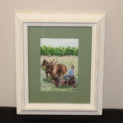 Plowing with Horses Painting By: Velera Adams