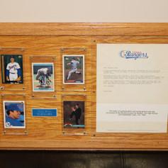 Framed Autographed Nolan Ryan Baseball Card
