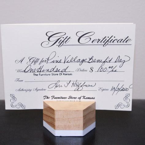 Furniture Store of Kansas Gift Certificate