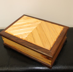 Hand Made Two Toned Trinket Box