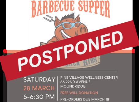 Pine Village's Benefit BBQ Postponed