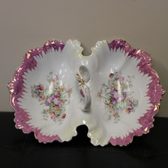 Double Sided Flower China Dish