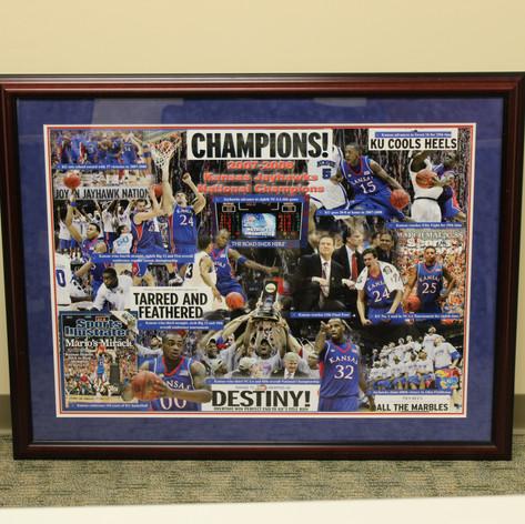 The University of Kansas national Championship Commemorative Poster