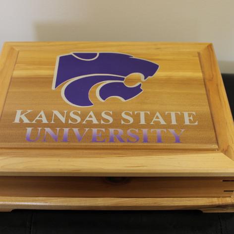 Hand Made Kansas State University Trinket Box