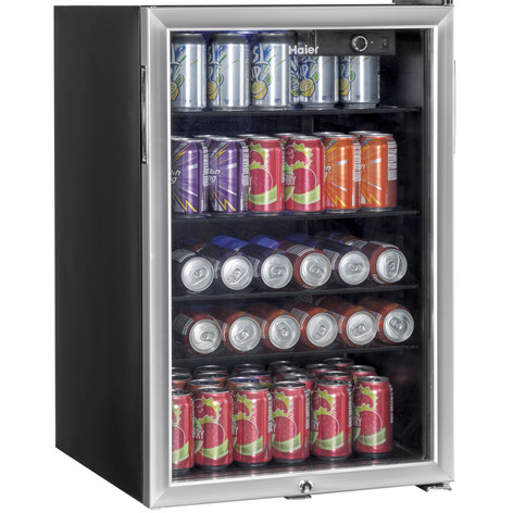 Haier 150 Can Locking Beverage Center