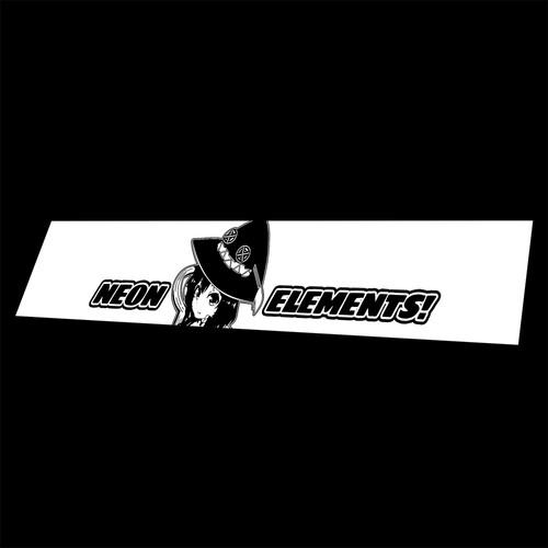 Vinyl Banner Megumin Neon Elements