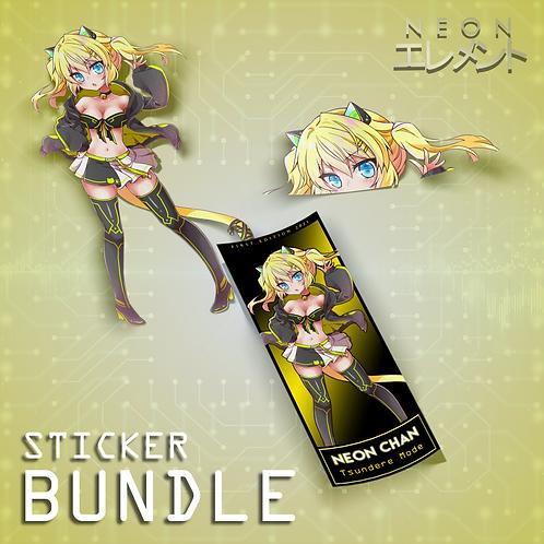 Neon-chan Tsundere Mode Sticker Bundle