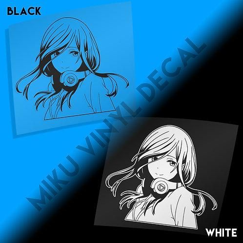Miku Vinyl Decal