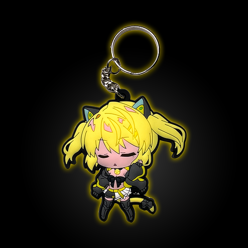 Neon-chan Tsundere Mode Rubber Keychain