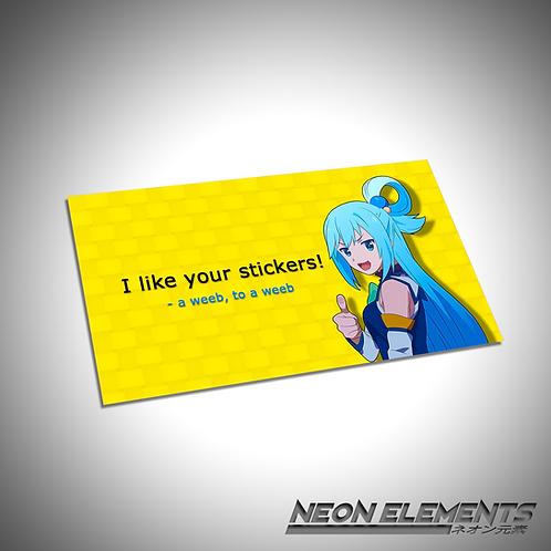 Weeb Appreciation Cards