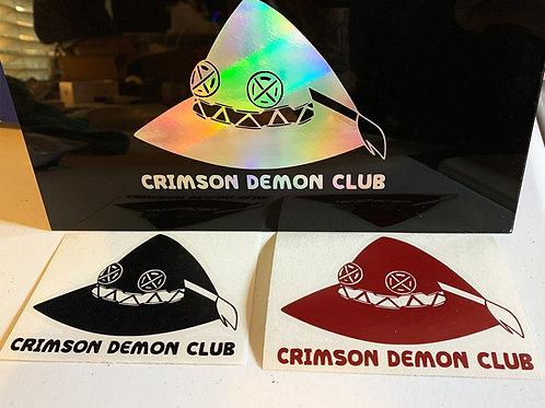 Crimson Demon Club Vinyl Decal