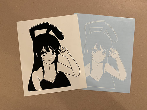 Bunny Mai Senpai Vinyl Decal