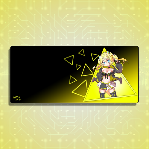 Neon-chan Tsundere Mode Mousepad/Deskpad