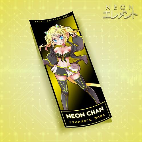 Neon-chan Tsundere Mode Slap