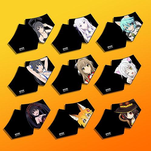 (PRE-ORDER) Waifu Face Masks SET 2