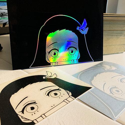Nezuko Vinyl Decal Peeker