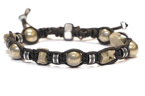 Bracelet macramé en pierres naturelles - Modèle BRUNO