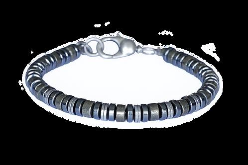 Bracelet pyrite et hématite - Modèle ELIOT