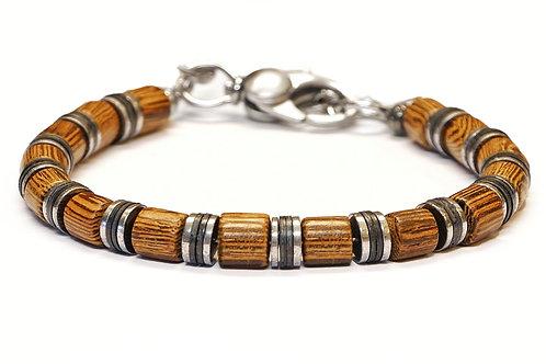 Bracelet en bois exotique et pierre naturelle- modèle Farell