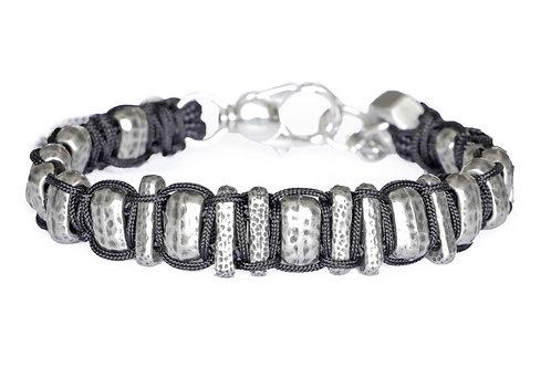 Bracelet tissé en argent plaqué - Modèle IVAN