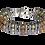 Thumbnail: Bracelet argent plaqué et pierres naturelles - Modèle LAURENT